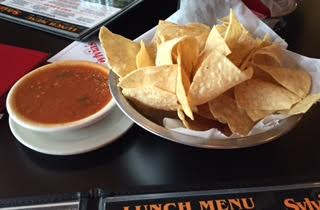 Sylvia's salsa and chips.