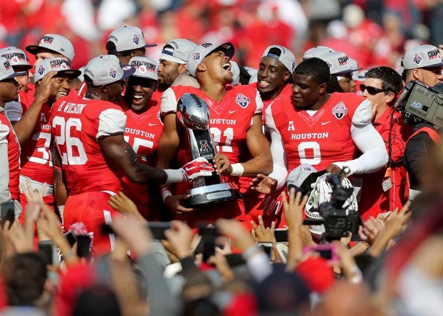 UofH Cougars win AAC Championship, beating Temple University.  Photo credit: Houston Chronicle
