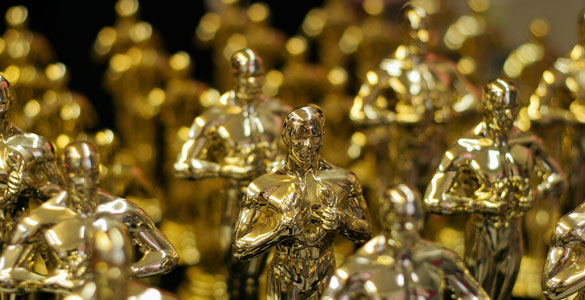 The little gold statues that will soon be awarded to the best of the best in the film industry.