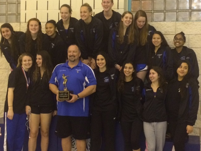 Girls+Swim+Team+Successfully+Defends+District+Title