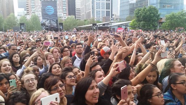 The crowd at March Madness Music Festival on April 1st, 2016. Can you see one of our Howler staff members?