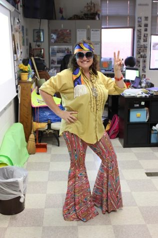 Mrs. Kwezi, rocks the 70's decade for Homecoming week, Throwback Thursday