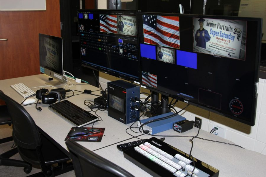 Westside's broadcast studio control room.