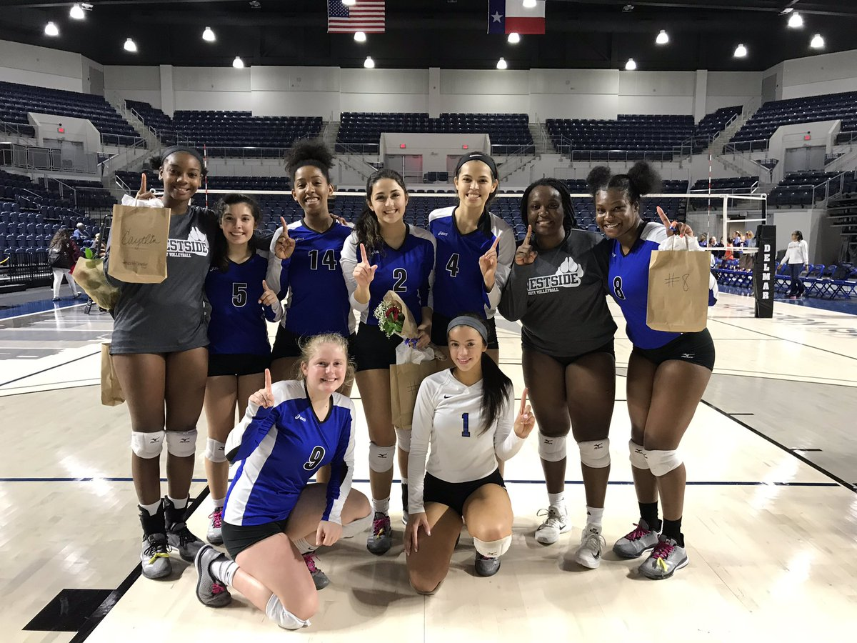 Westside Volleyball senior class of 2019 was recognized during their final district game of the season on October 23, 2018 at Delmar