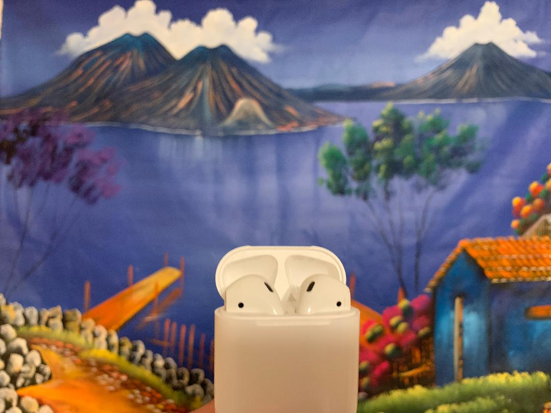 Apple airpods in their case