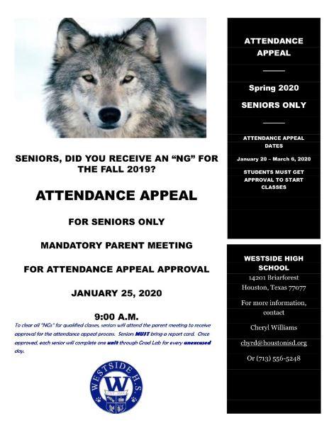 Attendance Appeal at Westside