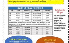 Westside Highschool Make-up Procedures for 2019 Fall Semester Exams!