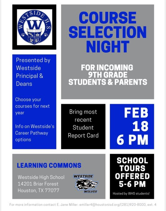 Course Selection Night