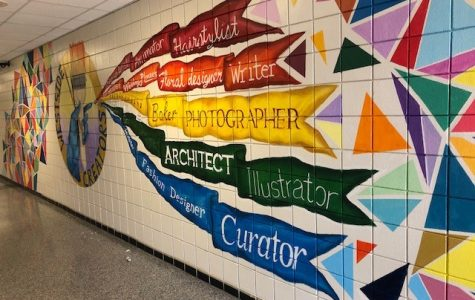 South 1 mural project created by Mr. Gray's second period painting students.